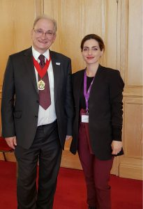 Stavri Photiades with the mayor of Coventry